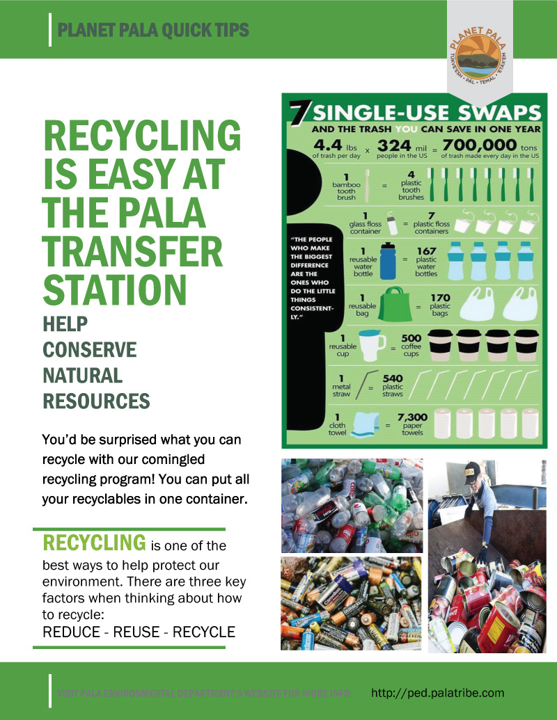 Pala Band California Environmental Department PED Planet Pala Green Living Recycling